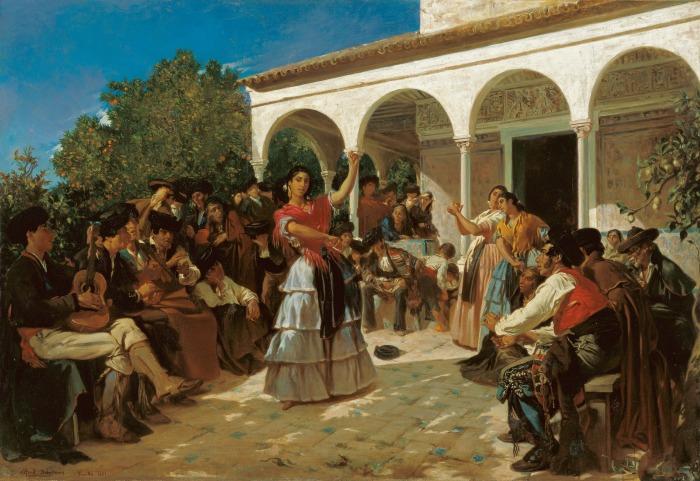 un-baile-de-gitanos-para-dehodencq