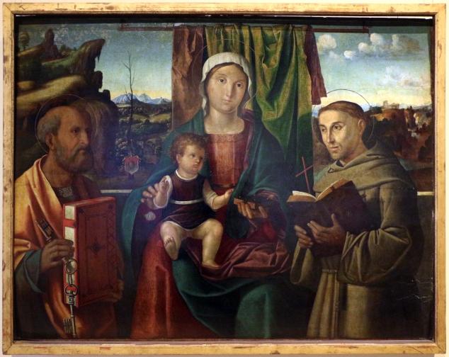 Antonio_solario_detto_zingaro,_madonna_col_bambino_tra_i_ss._pietro_e_francesco,_1514_ca._(ve)_01
