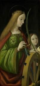 Este tríptico se encuentra en el Bristol Museum & Art Gallery. En él vemos a Santa Úrsula (derecha), la Virgen con el Niño y San San José (centro) y Santa Catalina de Alejandría (izquierda)