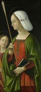 Solario, Antonio; Withypool Triptych, Saint Ursula ; Bristol Museums, Galleries & Archives; http://www.artuk.org/artworks/withypool-triptych-saint-ursula-189122