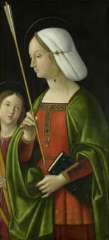 Solario, Antonio; Withypool Triptych, Saint Ursula ; Bristol Museums, Galleries & Archives; http://www.artuk.org/artworks/withypool-triptych-saint-ursula-189122