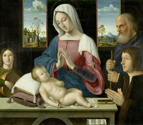 Solario, Antonio; Withypool Triptych, Virgin and Child with Saint Joseph and Donor ; Bristol Museums, Galleries & Archives; http://www.artuk.org/artworks/withypool-triptych-virgin-and-child-with-saint-joseph-and-donor-189120