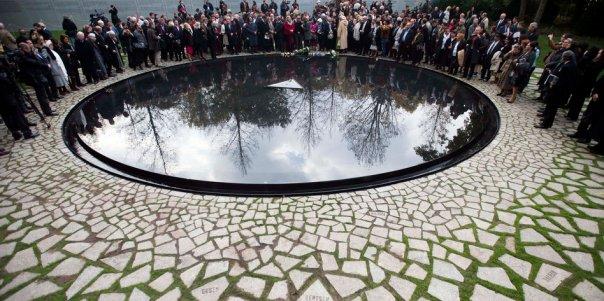 APTOPIX Germany Sinti Roma Holocaust Memorial
