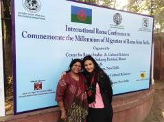 Una mujer India, con doctorado participaba en las jornadas. Se parecia a mi prima
